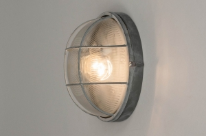 ceiling lamp 72863 industrial look rustic raw contemporary classical glass clear glass metal grey concrete gray round