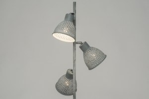 floor lamp 72865 modern metal grey concrete gray