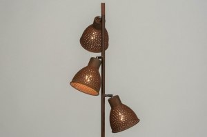 floor lamp 72866 rustic modern metal rusty brown bronze brown