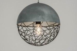 hanglamp 72870 sale modern stoer raw metaal zwart mat grijs betongrijs rond