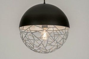 pendant light 72871 sale modern raw metal black matt grey concrete gray round