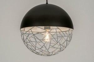 hanglamp 72871 eindereeks modern stoere lampen metaal zwart mat grijs betongrijs rond