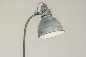 floor lamp 72887 industrial look rustic modern raw metal grey concrete gray