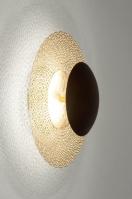 plafondlamp 72902 klassiek eigentijds klassiek brons roest bruin goud metaal rond