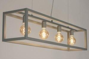 hanglamp 72908 sale modern betongrijs grijs metaal rechthoekig