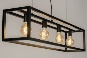 pendant light 72909 industrial look modern metal black matt grey oblong rectangular