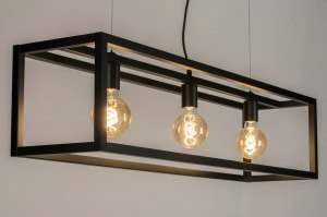 pendant light 72912 modern metal black matt oblong rectangular