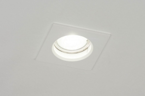 recessed spotlight 72932 modern aluminium metal white matt square