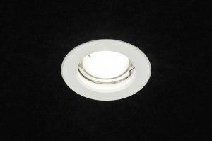 recessed spotlight 72934 modern aluminium metal white matt round