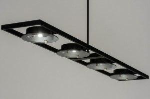 hanglamp 72945 modern zwart mat metaal rechthoekig