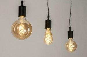 hanglamp 72950 modern industrie look zwart mat metaal langwerpig