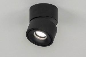 plafondlamp 72971 modern design zwart mat aluminium rond