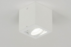 spotlight 72974 modern aluminium metal white matt square