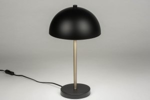 table lamp 72981 modern retro contemporary classical metal black matt rust matt brass round