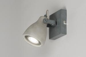 plafondlamp 72983 landelijk rustiek modern stoer raw beton betongrijs rond