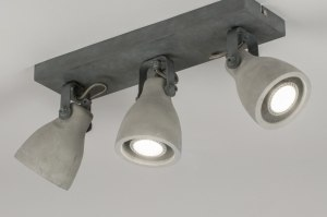 spot 72985 rural rustique moderne lampes costauds beton gris beton oblongue