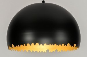 pendant light 72991 sale modern metal black matt gold round