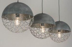 hanglamp 72997 modern retro stoer raw betongrijs metaal langwerpig