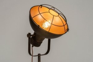 floor lamp 73009 industrial look modern raw stainless steel metal gold rust brown