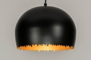 pendant light 73012 sale modern metal black matt gold round