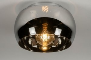 ceiling lamp 73014 modern contemporary classical glass chrome round