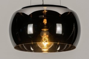 pendant light 73015 modern contemporary classical glass chrome round