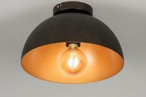 ceiling lamp 73018 modern retro contemporary classical aluminium black gold brown round