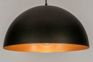 pendant light 73019 rustic modern contemporary classical metal gold rust brown round
