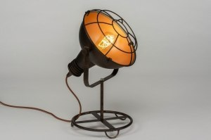 table lamp 73021 sale industrial look modern metal black gold brown multicolor