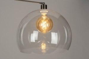 artikel 73024 modern retro transparant kleurloos kunststof acrylaat kunststofglas rond