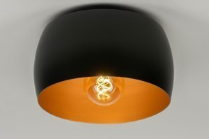 ceiling lamp 73032 modern contemporary classical aluminium black matt gold round