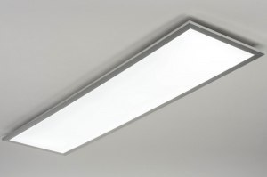 plafondlamp 73037 design modern aluminium kunststof aluminium langwerpig rechthoekig