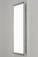 plafonnier 73038 design moderne aluminium plastique aluminium oblongue rectangulaire
