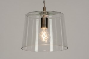 pendant light 73053 modern glass clear glass stainless steel steel gray transparent round