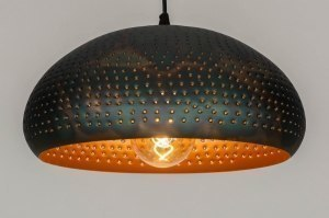 pendant light 73061 rustic modern contemporary classical metal black brown copper multicolor round