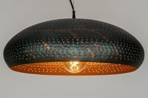 pendant light 73062 rustic modern contemporary classical metal black brown copper multicolor round
