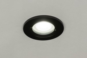 recessed spotlight 73085 industrial look modern aluminium metal black matt round