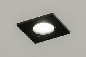 recessed spotlight 73086 industrial look modern aluminium metal black matt square