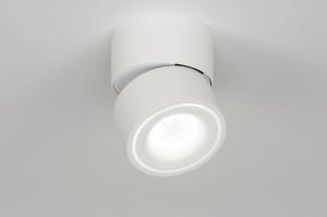 spot 73089 design modern aluminium wit mat rond