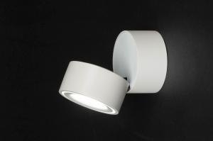 spotlight 73089 designer modern aluminium white matt round