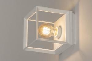 plafondlamp 73091 design modern aluminium metaal wit mat vierkant
