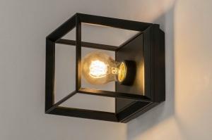 plafondlamp 73092 design modern aluminium metaal zwart mat vierkant