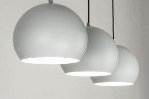 hanglamp 73113 sale modern retro metaal grijs rond langwerpig