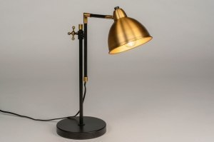 table lamp 73119 rustic classical contemporary classical brass sanded metal black matt gold rust matt brass round