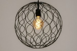 pendant light 73126 sale modern metal black matt round