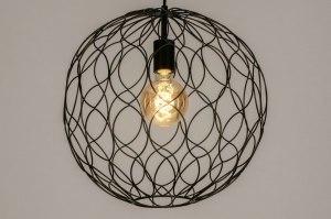 hanglamp 73126 sale modern metaal zwart mat rond
