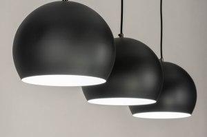 hanglamp 73127 modern retro metaal zwart mat antraciet donkergrijs rond langwerpig