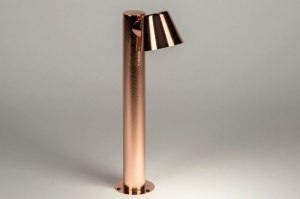 floor lamp 73144 designer modern steel stainless steel copper red copper round