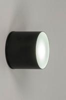 plafondlamp 73150 modern aluminium zwart mat rond