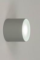 ceiling lamp 73152 modern aluminium grey round